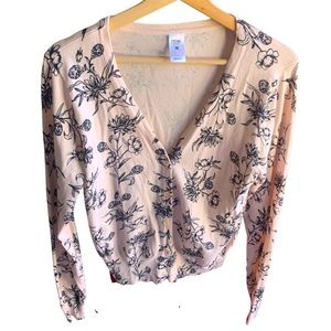 Cutest cottage core cardigan in pastel pink 10